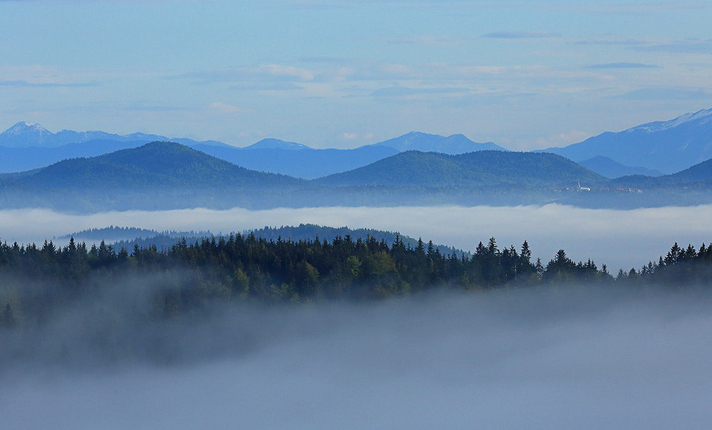 Slovenia's Dinaric Alps in the mist (Bret Charman)